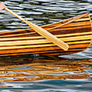 Canoe Lines And Reflections Poster
