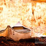 Canoe On Caddo Lake Poster by Sonja Quintero