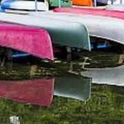 canoes - Lake Wingra - Madison  Poster