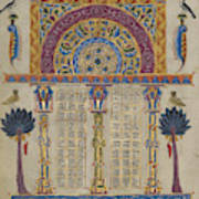 Canon Table Page Toros Roslin, Armenian Poster