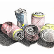 Cans Sketch Poster