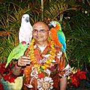 Can't Get Brighter Than This  Artist Navinjoshi In Hawaii Travel Vacations With Trained Parrots By P Poster
