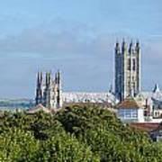 Canterbury Cathedral From Dane John Mound Poster