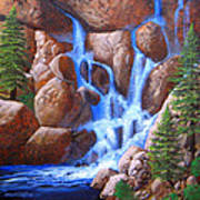 Canyon Cascade Poster