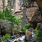 Canyon Serenity - Crazy Woman Creek - Crazy Woman Canyon - Johnson County - Wyoming Poster