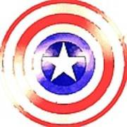 Cap Am Shield Poster