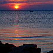 Cape Charles Rocky Sunset  Poster