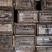 Cape Cod Cranberry Crates Poster