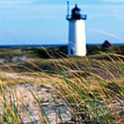 Cape Cod Lighthouse In Prowincetown  At  Summer Time Poster