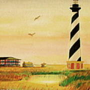Cape Hatteras Light At Sunset Poster