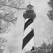 Cape Hatteras Light Black And White Poster