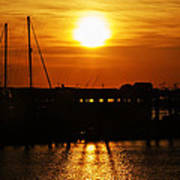 Cape May Harbor At Sunrise Poster