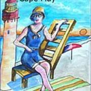 Cape May Illustration Poster Poster