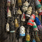 Cape Neddick Lobster Buoys Poster
