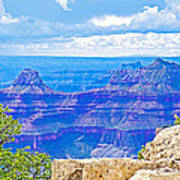 Cape Royal Blue On North Rim Of Grand Canyon-arizona Poster