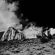 Capital Reef National Park In Black And White  Poster