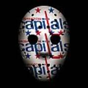 Capitals Goalie Mask Poster