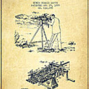 Capps Machine Gun Patent Drawing From 1899 - Vintage Poster