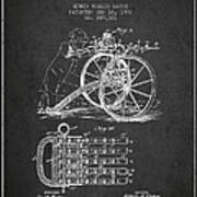 Capps Machine Gun Patent Drawing From 1902 - Dark Poster