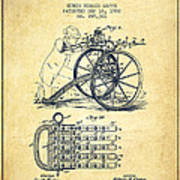 Capps Machine Gun Patent Drawing From 1902 - Vintage Poster