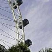 Capsules And Structure Of The Singapore Flyer Along With The Spokes Poster