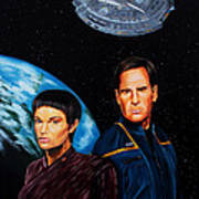 Captain Archer And T Pol Poster by Robert Steen