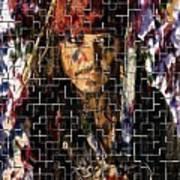 Captain Jack Sparrow Digital Painting Poster