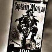 Captain Morgan Black And White Poster