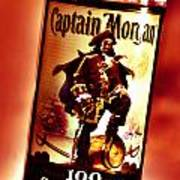 Captain Morgan Red Toned Poster