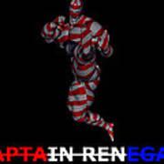 Captain Renegade Super Hero Jumping Karate Kick Poster