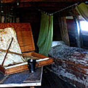 Captain's Quarters Aboard The Mayflower Poster