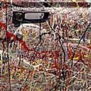 Car Door Splattered Paint.tif Poster