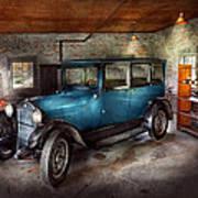 Car - Granpa's Garage  Poster by Mike Savad