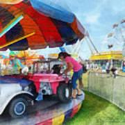 Car Ride At The Fair Poster