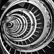 Time Tunnel Spiral Staircase In Sao Paulo Brazil Poster