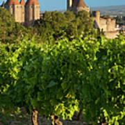 Carcassonne Morning Poster