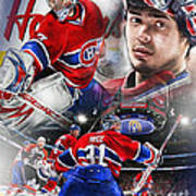 Carey Price Poster by Mike Oulton