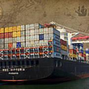 Cargo Vessel Poster