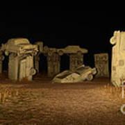 Carhenge At Night Poster