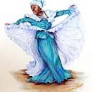 Caribbean Folk Dancer Poster