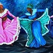 Caribbean Folk Dancers Poster
