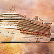 Caribbean Princess In A Different Light Poster by Betsy Knapp