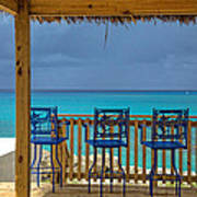 Caribbean View-island Grill Grand Cayman Poster
