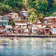 Caribbean Village Poster