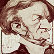 Caricature Of Richard Wagner Poster by Anonymous