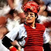 Fisk  Carlton Fisk Poster by Iconic Images Art Gallery David Pucciarelli