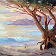Carmel Beach Winter Sunset Poster