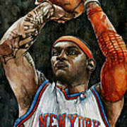 Carmelo Anthony Poster by Michael  Pattison
