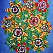 Carnival Flowers Poster
