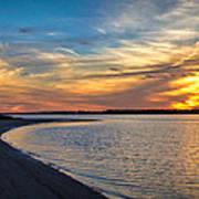 Carolina Beach River Sunset II Poster